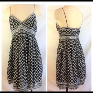 BCBG black and White sequin party dress like new